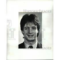 1987 Press Photo Mark Smith, Trinity (ice hockey) - cvb46576