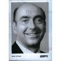 1986 Press Photo Dick Vitale ESPN Sportscaster - RRX38851