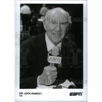 1996 Press Photo Dr. Jack Ramsay ESPN - RRX40271