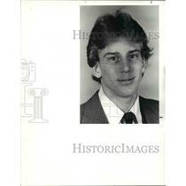 1985 Press Photo Hi School Players of week, Dan Hanson wrestling Richmond Ht's