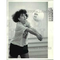 1989 Press Photo Becky Dawes of John Carroll University women's volleyball team