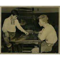 1957 Press Photo Chicago Park Checker Tournament - RRW61361