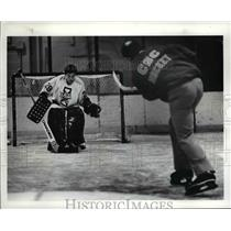 1986 Press Photo Euclid coach Gary Geldart practice with son, Gregg - cvb49945