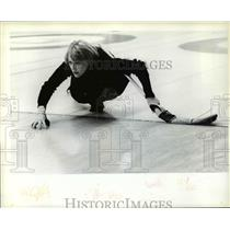 1979 Press Photo Kathy Cameron Watching her Shot - cvb50050