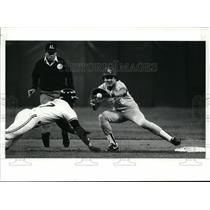 Press Photo Kansas City Baseball action - cvb50632