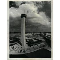 1971 Press Photo Airport Tower Near Completion Construc