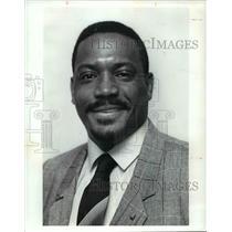 1991 Press Photo Jerry Morgan, wrestling coach at Shaw High School - cvb52349