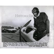 1955 Press Photo Adolf Holzmann sports plane Luxembourg - RRX80537