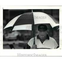 1991 Press Photo Announcer John Madden at Browns Camp - cvb53252