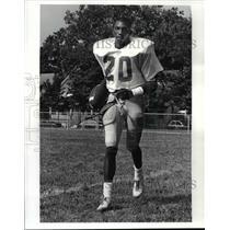 1986 Press Photo: Anthony Morgan - John Adams High School Football - cvb60844