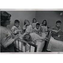 1967 Press Photo St Anthony Hospital Popsicle party kid