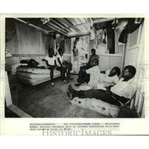 1980 Press Photo Haitian Refugees - cvb16986