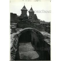 1983 Press Photo Poenari Castle just south of Transylvania, Romania - cvb27206