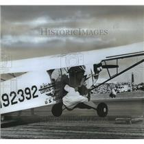 Press Photo The United State Navy Plane at the air show - sba14360