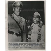 1962 Press Photo Indian Officials Lieutenant General Chaudhuri and Y. B. Chavan