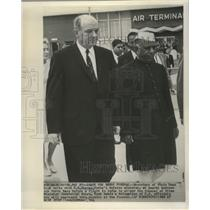 1964 Press Photo India's Defense Minister, Y.B. Chavan at Andrews Air Force Base
