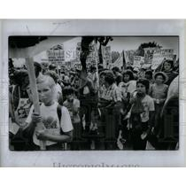 1983 Press Photo Civil Rights Rally Washington DC - RRX55683