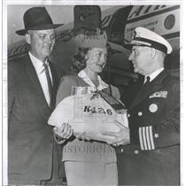 1956 Press Photo Navy personnel Antarctic Operation