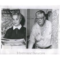 1957 Press Photo U.S. Commies Rose Kusnitz and Philip C