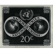 1951 Press Photo Design depict World unity Mail stamp - RRW67385