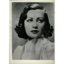 1933 Press Photo Sally O'Neill actress