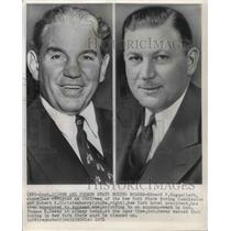 1951 Press Photo Edward P. Eagan and Boxing Commissioner Robert K. Christenberry