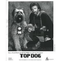1995 Press Photo Chuck Norris Reno Top Dog - RRW45525
