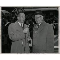 1956 Press Photo Old Newsboys Geo U Stark Jim Eberly