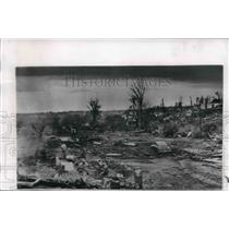 1956 Press Photo Neighborhood blown away by tornado in Birmingham, Alabama area.