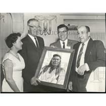 1961 Press Photo Tribal leaders hold picture of Chief Joseph - ney30694
