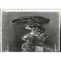1942 Press Photo Aerial view of Fort Mills on Corregidor, Philippine Islands