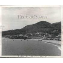 1952 Press Photo Taboga church on Island of Taboga Panama bay