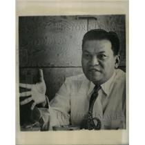 1953 Press Photo Ramon Magsaysay candidate for President of Philippines