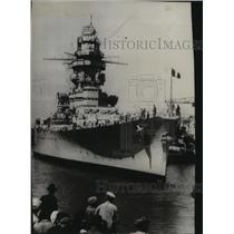 1940 Press Photo The French Battleship Strasbourg - spb01740