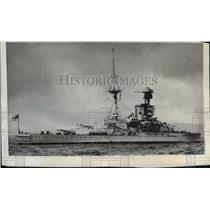 1937 Press Photo British battleship Revenge, serviced for preparedness purposes