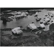 1941 Press Photo A stilted village in the lowlands of Thailand - spb02937