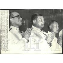 1955 Press Photo Thai coup de 'etat leader Admiral Sangad Chalawyu with cabinet