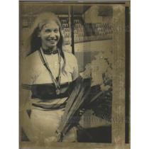 1975 Press Photo Sue Navarra at 1975 World Cycling Championships wins gold medal