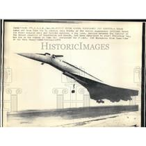 1975 Press Photo Soviet Union begins supersonic jet mail freight and service.