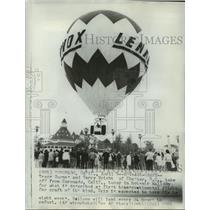 1966 Press Photo Tracy Barnes & Terry Wright, Transcontinental Balloon Flight