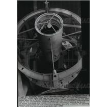 1941 Press Photo Star's-eye view of great telescope from Mt. Palomar Observatory