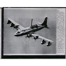 1955 Press Photo Navy aviation has put a mast and radar laboratory on a plane