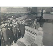 1929 Press Photo Chicago IL River Straightening Progress - ner14263
