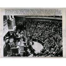 1958 Press Photo Moderate Premier Pierre Civil War - RRX80643