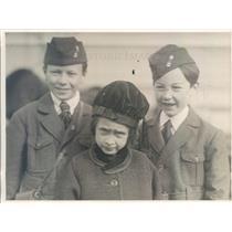 1919 Press Photo Tokyo Japan Robert, Bonnie, Laurance Rabbitt - ner36977
