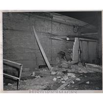 1962 Press Photo Beverly Woods Restaurant Bomb Damage - RRW03915
