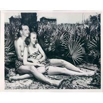 1941 Press Photo Tampa FL Mr/Mrs Joseph Sartin of Jackson TN - ner56171