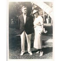 1935 Press Photo Miami FL Mr/Mrs CT Scannell of Flint MI - ner56751