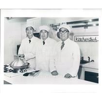 1980 Press Photo Chicago Peking China Chefs Yan Juangjie, Dong Shiguo