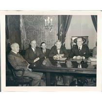 1937 Press Photo Detroit MI Governor Frank Murphy, Donaldson Brown - ner61435